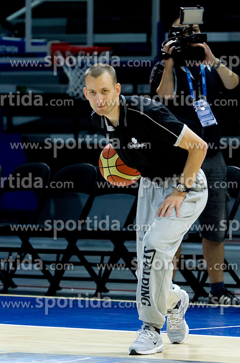 Gasper Potocnik, assistant coach of Slovenia during practice session of Slovenia National basketball team at Preliminary Round of Eurobasket Lithuania 2011, on September 4, 2011, in Arena Svyturio, Klaipeda, Lithuania. (Photo by Vid Ponikvar / Sportida)