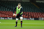 Ryan Jones in action. Wales rugby team training at the Millennium stadium,  Cardiff in South Wales on Thursday 15th November 2012.  pic by Andrew Orchard, Andrew Orchard sports photography,