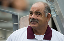 Texas A&M defensive coordinator John Chavis watches the score board at Kyle field before the start of an NCAA college football game against Louisiana-Lafayette Saturday, Sept. 16, 2017, in College Station, Texas. (AP Photo/Sam Craft)