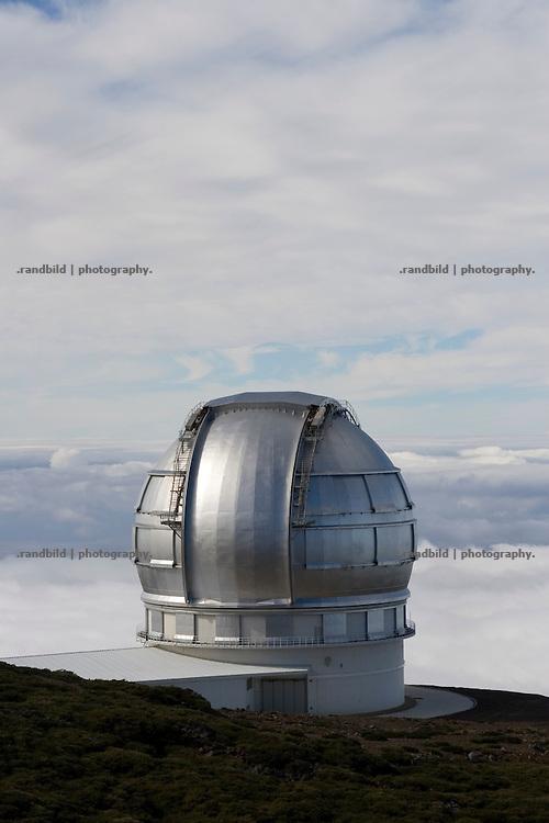 La Palma, Kanarische Inseln, Sternwarte, Astrophysisches Observatorium auf dem Roque de Los Muchachos