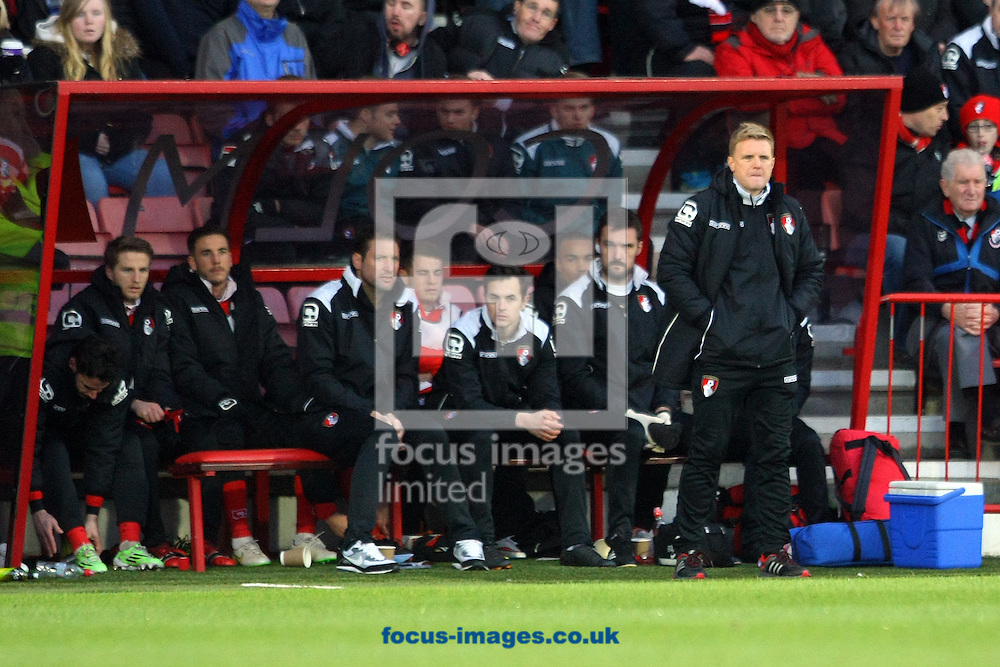 Bournemouth Manager Eddie Howe during the match at the Goldsands Stadium, Bournemouth<br /> Picture by Paul Chesterton/Focus Images Ltd +44 7904 640267<br /> 10/01/2015