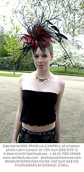 Debutante MISS ARABELLA CAMPBELL at a fashion photo call in London on 15th April 2002.	OYX 12