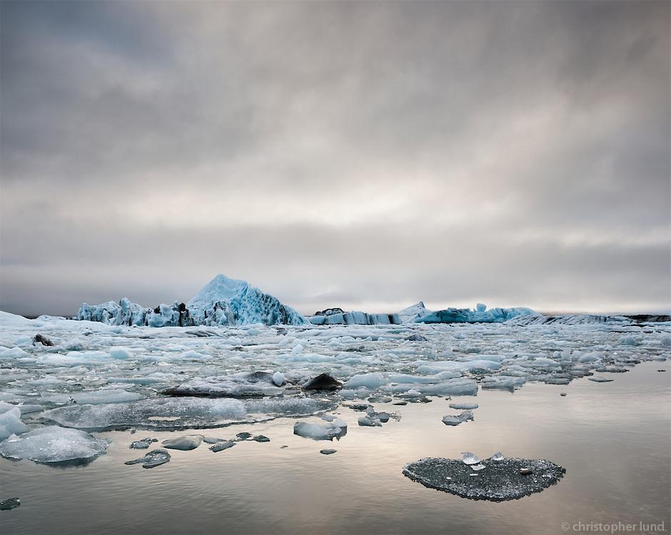 Jökulsárlón Glacier Lagoon, Southeast Iceland.