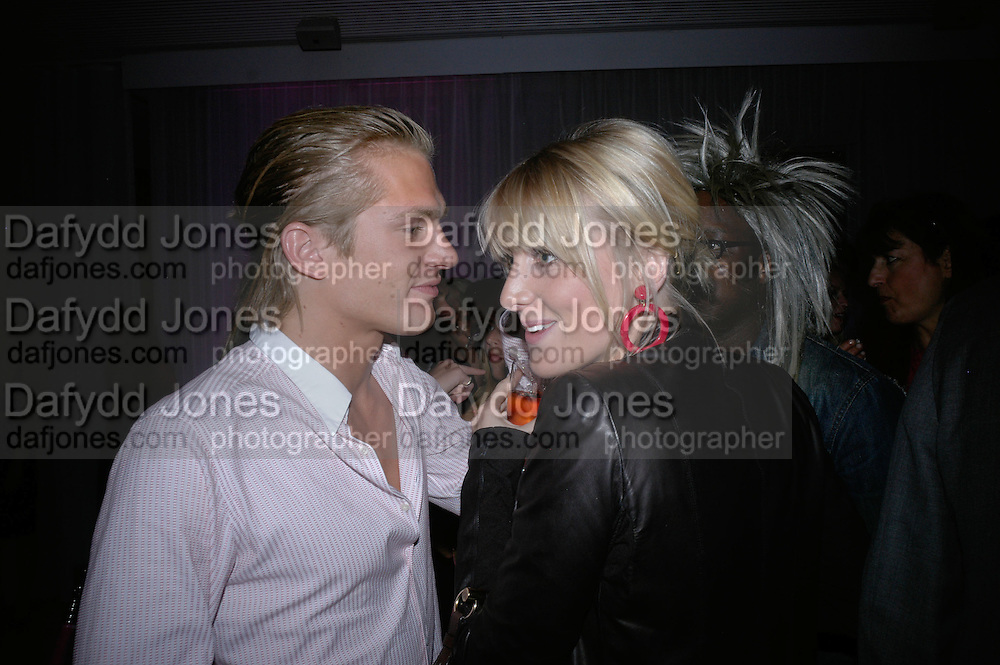 Jacobi Anstruther-Gough-Calthorpe and Lady Emily Compton, Laurent Perrier Pop Art Pink party. Suka at Sanderson. Berners St. London. 25 April 2007.  -DO NOT ARCHIVE-© Copyright Photograph by Dafydd Jones. 248 Clapham Rd. London SW9 0PZ. Tel 0207 820 0771. www.dafjones.com.