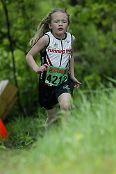 "(Kingston, Ontario---16/05/09) ""Jayden Sparks running in the kids race at the 2009 Salomon 5 Peaks Trail Running series Race held in Kingston, Ontario as part of the Eastern Ontario/Quebec division. ""  Copyright photograph Sean Burges / Mundo Sport Images, 2009. www.mundosportimages.com / www.msievents.com."