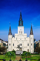 St. Louis Cathedral, Jackson Square, French Quarter, New Orleans, Louisiana USA