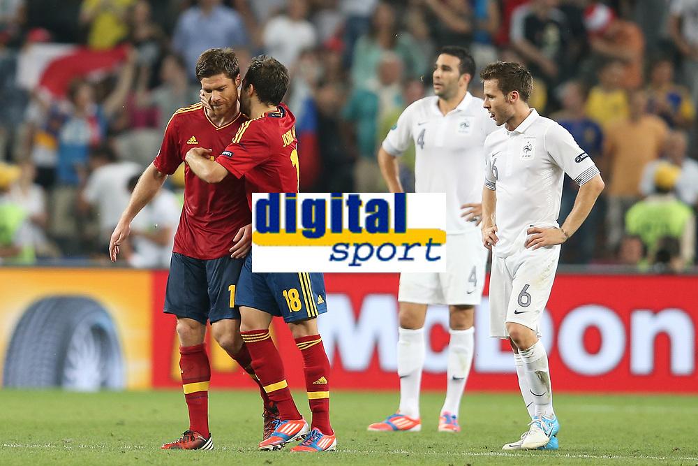 FOOTBALL - UEFA EURO 2012 - DONETSK - UKRAINE  - 1/4 FINAL - SPAIN v FRANCE - 23/06/2012 - PHOTO PHILIPPE LAURENSON /  DPPI - XABI ALONSO (ESP) JOY AFTER SECOND GOAL