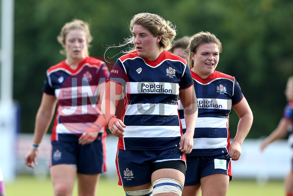 Poppy Cleall of Bristol Ladies and teammates - Mandatory by-line: Robbie Stephenson/JMP - 18/09/2016 - RUGBY - Cleve RFC - Bristol, England - Bristol Ladies Rugby v Aylesford Bulls Ladies - RFU Women's Premiership