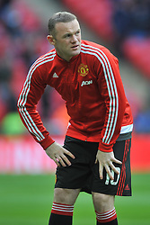 WAYNE ROONEY MANCHESTER UNITED, Manchester United v Everton, The Emirates FA Cup Semi Final Wembley Stadium, Saturday 23rd April 2016, <br /> (Score 2-1), Photo:Mike Capps