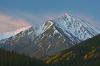 14,267 Ft. Torreys Peak of the Front Range Mountains at sunrise.  Colorado, USA