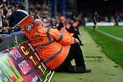 The Stewards watch on during the EFL Sky Bet League 2 match between Luton Town and Stevenage at Kenilworth Road, Luton, England on 14 October 2017. Photo by Dennis Goodwin.