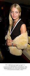 MISS JEMMA KIDD at a party in London on 13th December 2000.OKF 100
