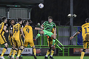 Forest Green Rovers Matty Stevens(9) heads the ball during the EFL Sky Bet League 2 match between Forest Green Rovers and Port Vale at the New Lawn, Forest Green, United Kingdom on 11 February 2020