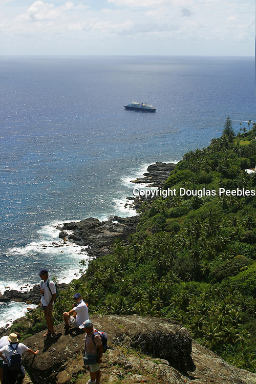 View from Fletcher's cave, Pitcairn Island<br />