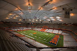 Oct 21, 2011; Syracuse NY, USA;  General view of the interior of the Carrier Dome before the game between the Syracuse Orange and the West Virginia Mountaineers.  Mandatory Credit: Jason O. Watson-US PRESSWIRE