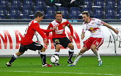 11.12.2011, Stadion, Salzburg, Red Bull Arena, AUT, 1. FBL, RB Salzburg vs FC Trenkwalder Admira Wacker, im Bild Jakob Jantscher, (Red Bull Salzburg, #14) Patrik Jezek, (Trenkwalder Admira, #7) Stephan Auer, (Trenkwalder Admira, #13) during the Austrian Bundesliga Match, RB Salzburg against FC Trenkwalder Admira Wacker, Stadium, Red Bull Arena near Salzburg, Austria on 2011-12-11, EXPA Pictures © 2011, PhotoCredit: EXPA/ S. Woldron
