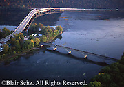 Susquehanna River, Juniata River, Clarks Ferry Bridge, Duncannon Bridge, Aerial Views, Perry Co., PA