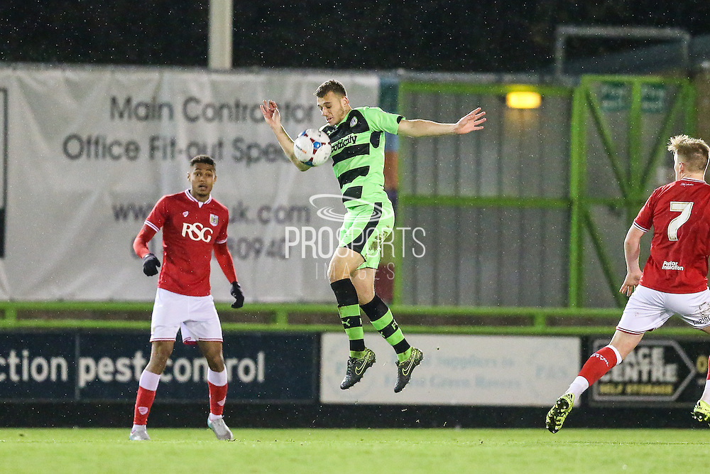 Forest Green Rovers Aden Baldwin during the The County Cup match between Forest Green Rovers and Bristol City at the New Lawn, Forest Green, United Kingdom on 23 November 2015. Photo by Shane Healey.