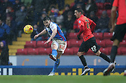 Blackburn Rovers midfielder, Craig Conway (32) during the Sky Bet Championship match between Blackburn Rovers and Brighton and Hove Albion at Ewood Park, Blackburn, England on 16 January 2016.