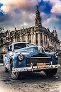 Vintage 1950's Car in front of El Teatro Nacional, Havana, Cuba
