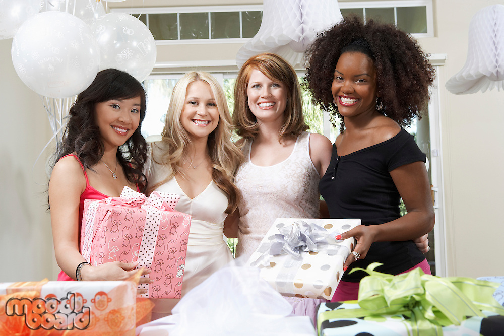 Friends Together at Bridal Shower