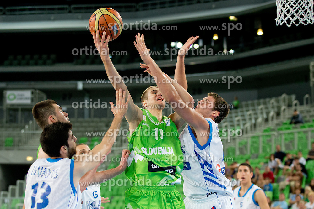Matej Rojc of Slovenia during basketball match between National teams of Greece and Slovenia in Placement match for 7th place of U20 Men European Championship Slovenia 2012, on July 22, 2012 in SRC Stozice, Ljubljana, Slovenia. (Photo by Matic Klansek Velej / Sportida.com)