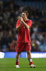 BIRMINGHAM, ENGLAND - Monday, October 13, 2008: Wales' Darcy Blake looks dejected after losing to England during the UEFA European Under-21 Championship Play-Off 2nd Leg match at Villa Park. (Photo by Gareth Davies/Propaganda)