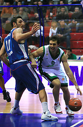 Antonio Porto (6) and Verdan Vukusic (11) at Euroleague match between KK Cibona and Air Avellino, on November 26, 2008, in Cibona Tower, Zagreb, Croatia. Match was won by Cibona 82:79. (Photo by Vid Ponikvar / Sportida)
