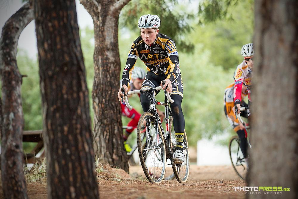 SPAIN / SPANJE / CYCLING / WIELRENNEN / CYCLISME / CYCLOCROSS / VELDRIJDEN / WINTERSTAGE / TRAINING CAMP / SUNWEB - NAPOLEON GAMES CYCLING TEAM / CROSSTRAINING / JONAS DEGROOTE /