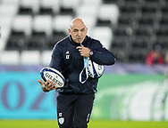 Head Coach Laurent Travers of Racing 92 during the pre match warm up<br /> <br /> Photographer Simon King/Replay Images<br /> <br /> European Rugby Champions Cup Round 3 - Ospreys v Racing 92 - Saturday 7th December 2019 - Liberty Stadium - Swansea<br /> <br /> World Copyright © Replay Images . All rights reserved. info@replayimages.co.uk - http://replayimages.co.uk