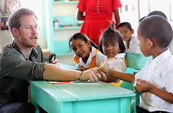 Prince Harry visits Sumara Village in the Guyana Hinterland on day 13 of an official visit to the Caribbean.