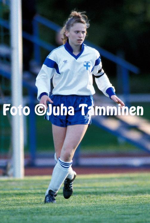 06.06.1991.Christina Forssell - Finland U-20.©JUHA TAMMINEN.