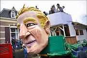 Nederland, Beek, Berg en Dal, 27-2-2017Traditiegetrouw vindt in dit dorp bij Nijmegen en tegen de grens met Duitsland de Rozenmoandag carnavalsoptocht plaats. Alle wagens, praalwagens, carnavalswagens uit de regio komen dan langs want het is de enige optocht. Deze wagens heeft de Amerikaanse president Donald Trump als onderwerp .Foto: Flip Franssen