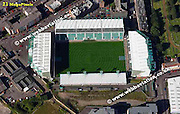 aerial photograph of Hibernian Football Stadium  Edinburgh Scotland