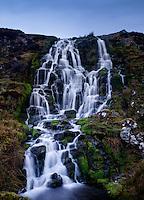 SCOTLAND - CIRCA APRIL 2016: The Bridal Veil Falls in Skye an Island in Scotland