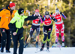 BESCOND Anais (FRA) competes during Women 12,5 km Mass Start at day 4 of IBU Biathlon World Cup 2014/2015 Pokljuka, on December 21, 2014 in Rudno polje, Pokljuka, Slovenia. Photo by Vid Ponikvar / Sportida