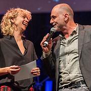 NLD/Amsterdam/20180917 - Uitreiking de Gouden Notenkraker 2018, Leo Blokhuis en Jaqueline Govaert