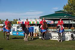 Team Belgium, Vanderhasselt Yves, Philippaerts Olivier, Mathy rançois Jr, Clemens Pieter, Weinberg Peter<br /> Spruce Meadows Masters - Calgary 2019<br /> © Hippo Foto - Dirk Caremans<br />  08/09/2019