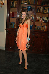CAMILLA AL FAYED at the Tatler Summer Party in association with Moschino at Home House, 20 Portman Square, London W1 on 29th June 2005.<br /><br />NON EXCLUSIVE - WORLD RIGHTS