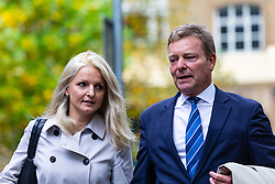 Craig MacKinlay MP at Southwark Crown Court where he and two of his aides, charged over alleged undeclared expenses concerning the party's 2015 General Election Battle Bus, face trial, expected to last six weeks . London, October 15 2018.