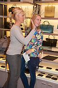 TAMARA BECKWITH; ALICE NAYLOR LEYLAND; , Smythson Sloane St. Store opening. London. 6 February 2012.