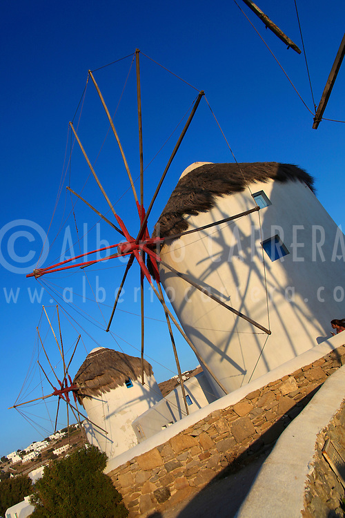 Alberto Carrera, Windmills, Mykonos, Cyclades Islands, Greece, Europe