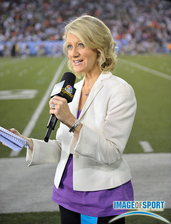 Aug 8, 2010; Canton, OH, USA; NBC Sports sideline reporter Andrea Kremer during the preseason game between the Dallas Cowboys and the Cincinnati Bengals at Fawcett Stadium. Photo by Image of Sport