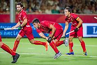 ANTWERPEN - Alexander Hendrickx (Belgie) scoort uit een strafcorner   tijdens finale mannen  Belgie-Spanje-,  bij het Europees kampioenschap hockey.  WSP/ KOEN SUYK