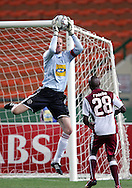 Hans Vonk claims the high ball during the PSL match between Ajax Cape Town and Moroka Swallows held at Newlands Stadium in Cape Town, South Africa on 28 October 2009..Photo by Ron Gaunt/SPORTZPICS