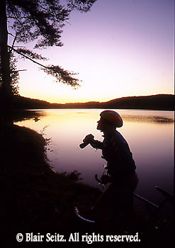 PA landscapes Biking in PA Bicycling, Young Male, PA Lake Sunset Birdwatching, Young Adult Male,
