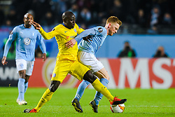 February 14, 2019 - MalmÅ, Sweden - 190214 N'Golo Kante of Chelsea and Anders Christiansen of MalmÅ¡ FF during the Europa league match between MalmÅ¡ FF and Chelsea on February 14, 2019 in MalmÅ¡..Photo: Petter Arvidson / BILDBYRN / kod PA / 92225 (Credit Image: © Petter Arvidson/Bildbyran via ZUMA Press)