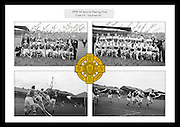 Collage of images from the 1954 All-Ireland Hurling Final between Cork and Wexford, played at Croke Park on 5th September 1954
