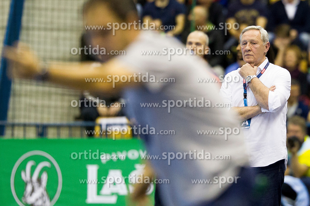 Zvonimir Serdarusic, head coach of Paris Saint-Germain during handball match between RK Celje Pivovarna Lasko (SLO) and Paris Saint-Germain (FRA) in Round #5 of Group Phase of EHF Champions League 2015/16, on October 18, 2015 in Arena Zlatorog, Celje, Slovenia. Photo by Urban Urbanc / Sportida