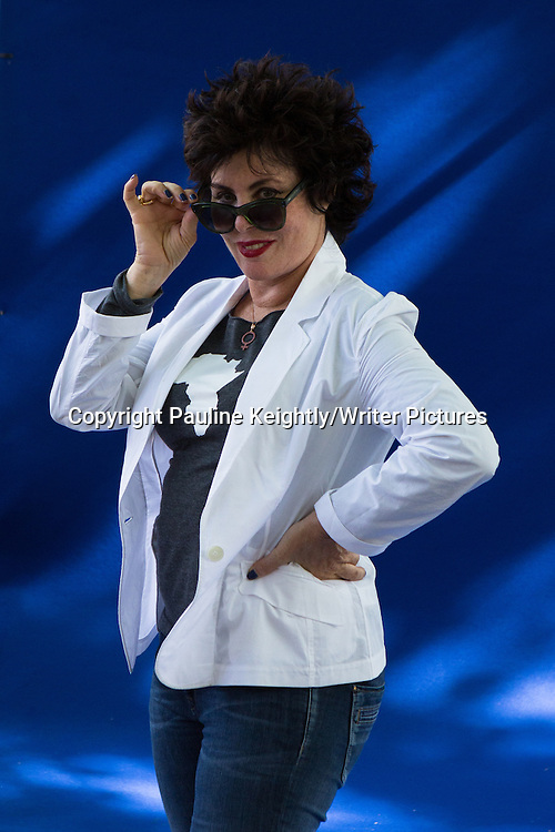 Ruby Wax, American comedian, writer and mental health campaigner gave a talk at the Edinburgh International Book Festival 2013. 15th August 2013<br /> <br /> Pic by Pauline Keightly/Writer Pictures